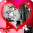 Romantic photo frames of love